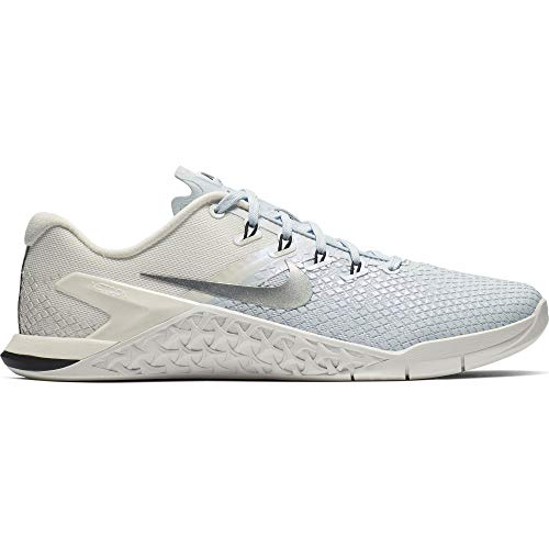 Nike Women's Metcon 4 XD Metallic Training Shoe Half Blue/Metallic Silver/Sail/Black Size 9.5 M US