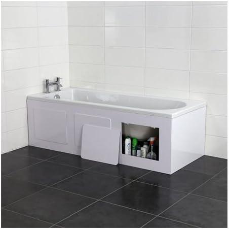Croydex Height Adjustable 50-57.5 cm Storage Bath Panel, 169 cm, Gloss White