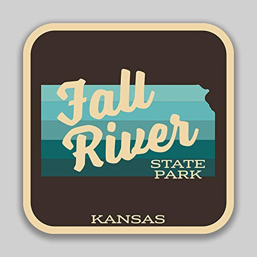 JMM Industries Fall River State Park Kansas Vinyl Decal Sticker Car Window Bumper 4-Inches 4-Inches Premium Quality UV Protective Laminate SPS01081