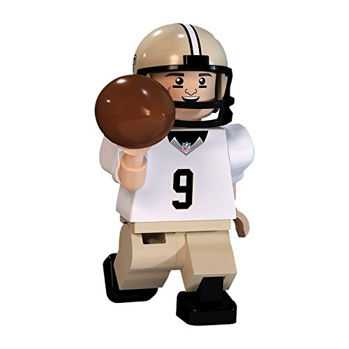 NFL GEN3 New Orleans Saints Drew Brees Limited Edition Minifigures, Gold, Small