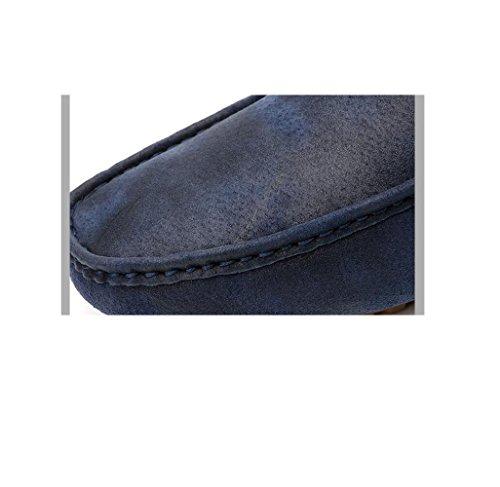 Fondo A Punta Pigro Casual Blue Rete Bean Business Scarpe Scarpe Morbido Uomo Tonda Oxford Scarpe da Traspiranti da OZq7wO