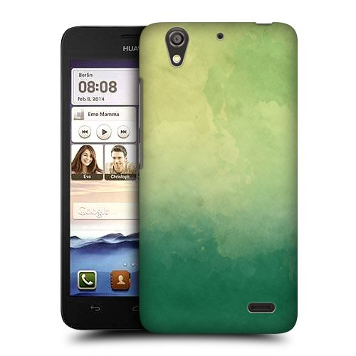 Head Case Designs Green Watercoloured Ombre Protective Snap-on Hard Back Case Cover for Huawei Ascend G630