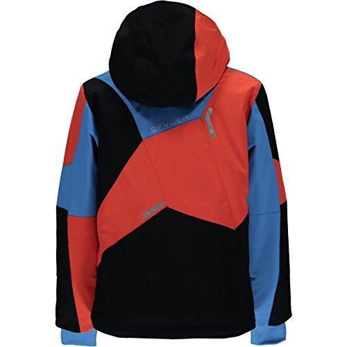 Spyder Kids  Boy's Leader Jacket (Big Kids) Black/Fresh Blue/Burst 18 by Spyder (Image #1)