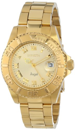 Invicta Women s Angel Gold-Tone Stainless Steel Watch 14321