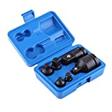 "Impact Socket Adapter, 6pcs Impact Drive Socket Reducer Adaptor Set with Random Color Case, 3/4"" 1/2"" 3/8"" 1/4"""