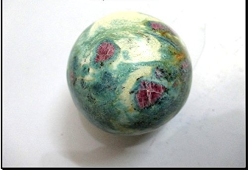 Jet Ruby Fuchsite Fuschite 45 - 50 mm Ball Sphere Gemstone A+ Hand Carved Crystal Altar Healing Devotional Focus Spiritual Chakra Cleansing - Spheres Crystal And Stone