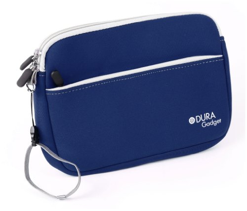 DURAGADGET Premium Quality Water Resistant Travel Pouch-Style Case in Blue Neoprene for Huawei MediaPad M1 / Huawei MediaPad T1 8.0
