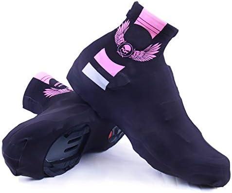 防寒 シューズカバー 防水・防塵屋外の乗馬用品・マジック・ウィングブラックパウダー靴カバー暖かいと冷たいプルーフ乗馬靴カバー 携帯便利 シューズカバー (Color : Black, Size : L)