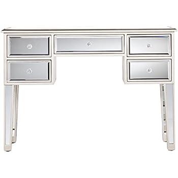 Amazon Com Mirage Mirrored Desk Console Table Mirror