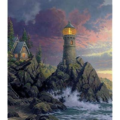 Thomas Kinkade Inspirations Collection Rock Salvation Puzzle - 300Piece: Toys & Games