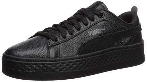 - PUMA Women's Smash Platform Sneaker Black blac, 8.5 M US