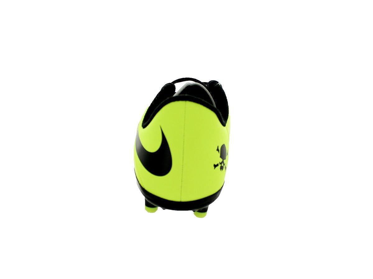 Nike Kids Jr Hypervenom Phelon FG Vbrnt Yllw//Blk//Mtllc Slvr//VLT Soccer Cleat 2.5 Kids US