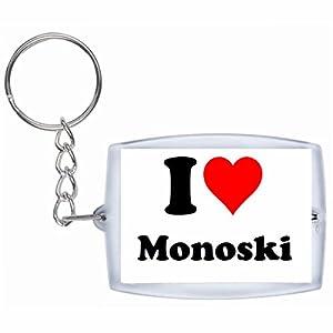EXKLUSIV bei uns: Schlüsselanhänger I Love Monoski in Weiß, eine tolle...