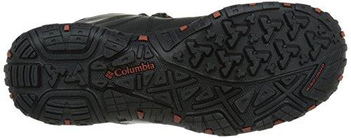 Columbia PEAKFREAK VENTURE MID WATERPROOF OMNI-H - zapatillas de trekking y senderismo de piel hombre negro - Schwarz (Black/Sanguine 010)