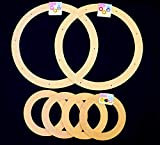 Value Pack. 6 Rings, 2 x 18'' + 4 x 9'' Biodegrable Floral Craft Rings, Ez Wrap Poly Mesh Center Piece Wreath Form, for Photo Frame, Candle Ring, Mobile, Dream Catcher Etc