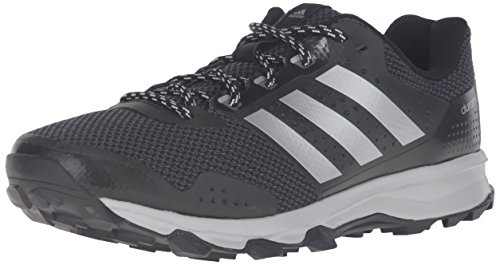 adidas Men s Duramo 7 Trail m Runner, Black Metallic Silver Light Onix, 9 M US