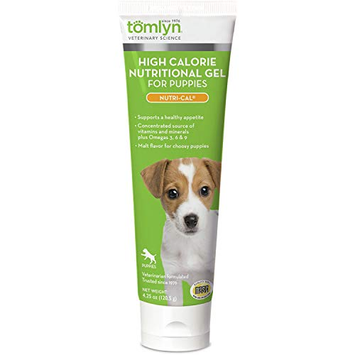 Tomlyn Nutri-Cal Puppy-cal High Calorie Nutritional Supplement Gel Boosts Appetite with Vitamins, Minerals & Energy for Puppy 4.25 Oz.