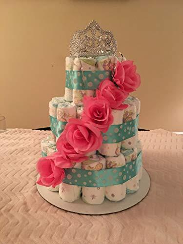 Pink Flower Princess Diaper Cake