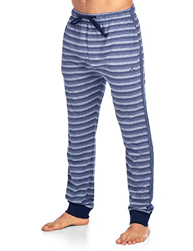 Closed Fly Pant - Balanced Tech Men's Jersey Knit Jogger Lounge Pants - Denim Stripe - Medium/M
