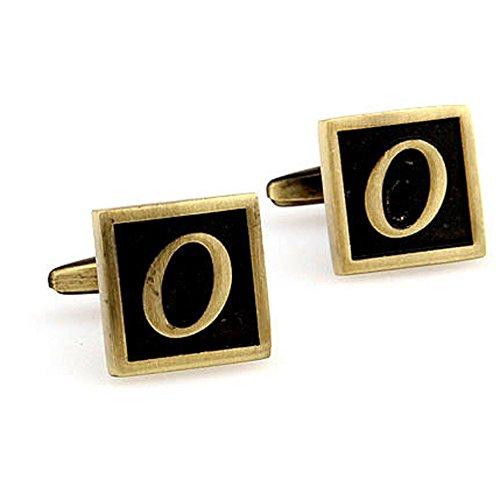 Emerald Cufflinks (Initial Cufflinks Letter Cuff Links with FoMann Presentation Box-O)
