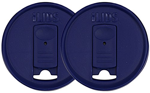 ILids Mason Jar Drink Lid, Wide Mouth, Cobalt, 2-Pack