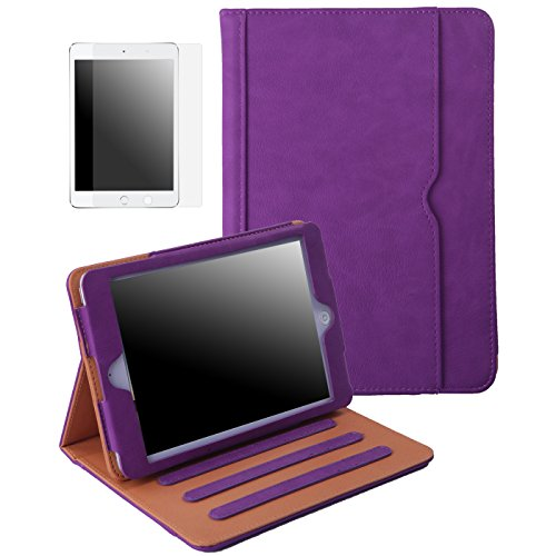 HDE Case for iPad Mini 1 2 3 w/Screen Protector - Adjustable Cover Turns into Stand, - Fiber Ipad Mini Case Carbon