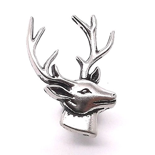 Deer Head Right Facing Nickel Concho Snap Cap 1