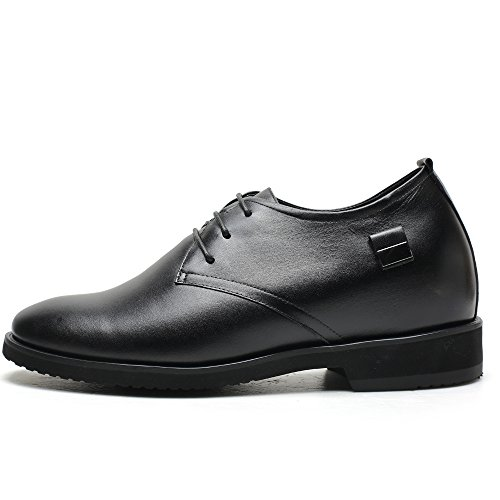 CHAMARIPA Chaussures à lacets talonnettes grandissantes homme Oxford - Grandit de 8 cm