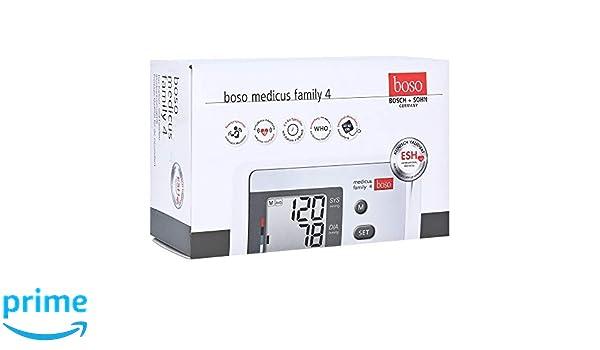 Boso Medicus Family 4/Partner de y Familias - Tensiómetro digital con 4 almacenar, pantalla grande y de arritmia de detección/Incluye universal de manguito ...