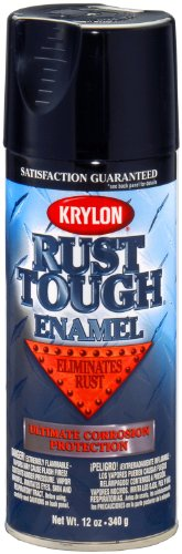 Krylon (K09202007-6 PK) 'Rust Tough' Gloss Black Rust Preventive Enamel - 12 oz. Aerosol, (Case of 6)