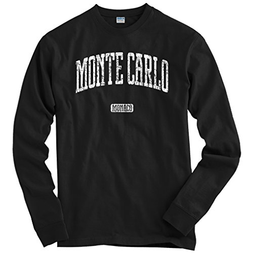 Smash Vintage Men's Monte Carlo Long Sleeve T-Shirt - Black, XXXX-Large (Grand Royale Poker)