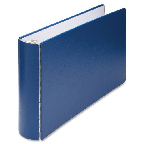 "Wilson Jones 346 Line Casebound DublLock Ring Binder, 2 inch Capacity, 11"" x 17"" Sheet Size, Blue (W346-90NB)"