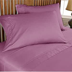 800TC ULTRA SOFT SILKY 100% EGYPTIAN COTTON LUXURIOUS SHEET SET WITH DUVET COVER OLYMPIC QUEEN LAVENDER SOLID BY PEARLBEDDING