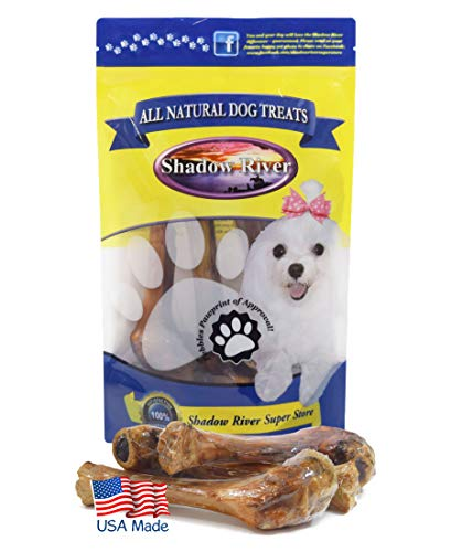 - Shadow River Lamb Shank Bones for Big Dogs - 8 Pack Large Size Premium All Natural Chew Treats