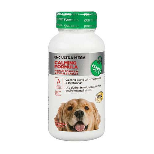 GNC Pets Ultra Mega Calming Formula for All Dogs - 90 Tablets