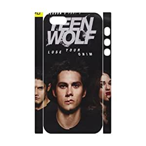 T-TGL(RQ) Iphone 5/5S 3D Personalized Phone Case Teen Wolf with Hard Shell Protection