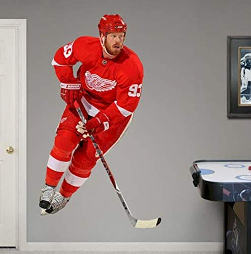 FATHEAD Johan Franzen Detroit Red Wings Logo Set Official NHL Vinyl Wall Graphic Life-Size, 6' FEET -
