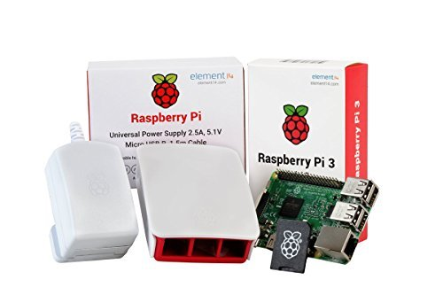 Raspberry Pi 3 Desktop Starter Kit (16Gb, White) by Raspberry Pi