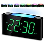 Alarm Clock, Large Number Digital LED Display with Dimmer, Night Light, USB Charging Port, Big Snooze, Easy to Set for Kids Elderly, Loud Bedroom Alarm Clock for Heavy Sleeper Teen Senior, Home Travel