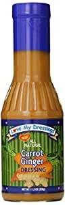 Love My Dressings Salad Dressing, Carrot Ginger, 11.5 Ounce