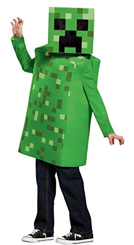 UHC Boy's Minecraft Creeper Classic Outfit Funny Theme Child Halloween Costume, Child S (4-6) - Minecraft Creeper Costume