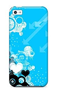 AndreaPope Perfect Tpu Case For Iphone 5c/ Anti-scratch Protector Case (blue Vector)
