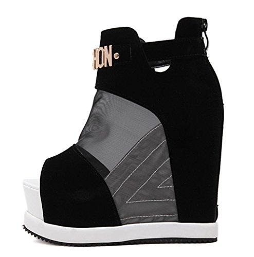 Nuevas Las Black Femenina oras Sandalias Tama Kitzen de los con Plataforma Zapatos Pista Las o Tobillo del la de de del Se Gladiador w8BSqIB