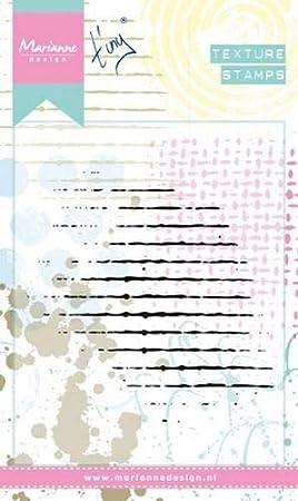 Marianne Design Clear Stamps 16,1 x 10,2 cm per Progetti Creativi con i Timbri Scarabocchio Strisce