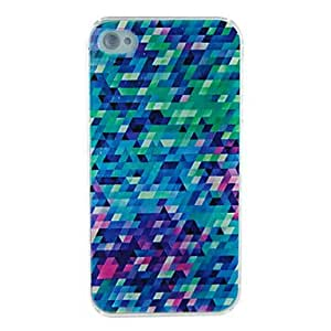 Colorful Vague Embossment Back Case for iPhone 4/4S