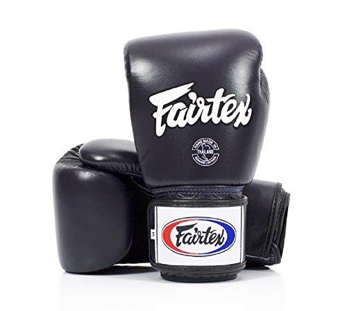 Fairtex Muay Thai Boxing Gloves BGV1 BR Breathable Blue 14 oz Training & Sparring Gloves for Kick Boxing MMA K1
