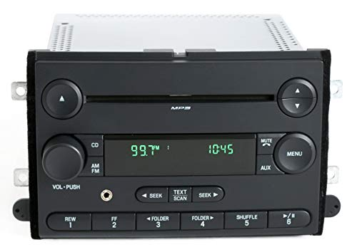 - 1 Factory Radio AM FM CD Player w Aux Input Compatible With 2006-07 Ford Fusion Mercury Milan 6E5T-18C869-AK