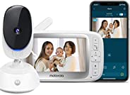 "Motorola Connect40 Video Baby Monitor - 5"" Parent Unit and HD Wi-Fi Viewing for Baby, Elderly, Pet - 2-Wa"
