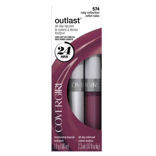 COVERGIRL Outlast All Day Two-Step Lipcolor Ruby Reflection 574, 2.3 ml