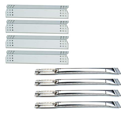 (Direct Store Parts Kit DG256 Replacement Master Forge 1010037 1010048 Nexgrill 720-0837C 720-0837E Gas Grill Repair Kit (4-Pack) Stainless Steel Burners & Heat Plates)